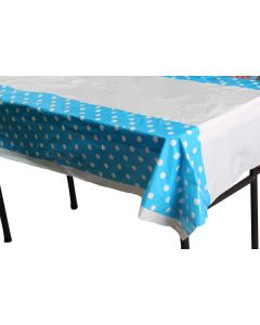 Blue Polka Dots Table Cover