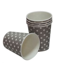 silver polka dots paper cups