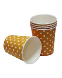 Orange Polka Dots Paper Cups