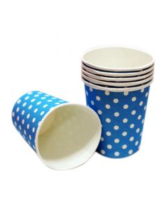 blue polka dots paper cups
