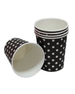 black polka dots paper cups