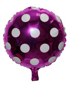 Purple Polka Dot Foil Balloon