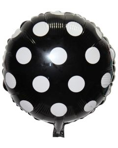 Black Polka Dot Foil Balloon