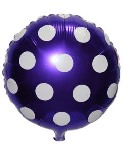 Blue Polka Dot Foil Balloon