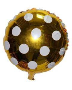 Gold Polka Dot Foil Balloon