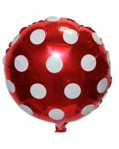 Red Polka Dots Foil Balloon