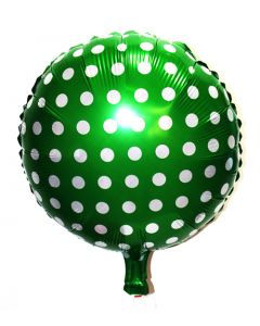Green Polka dots foil balloon
