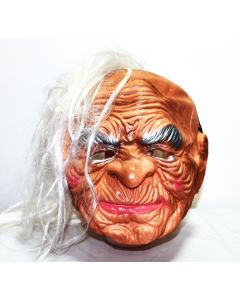 white hair old man halloween mask