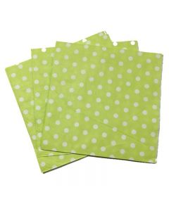 Lime Green Polka Dots Paper Napkins
