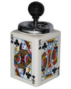 Ceramic Playing Cards Ashtray