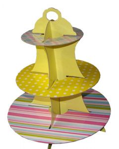 Yellow Polka Dots with Multicolor Stripes and Checks