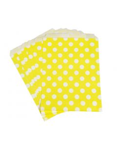 yellow polka dot favor bag