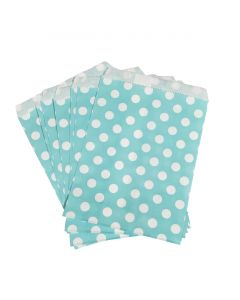 sky blue polka dot bag