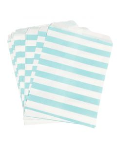 blue striped favor bags
