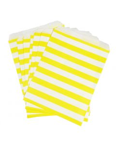 yellow striped favor bag