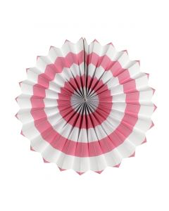 Light Pink stripes paper fans