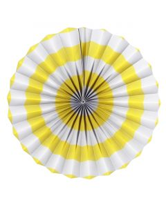 Yellow Stripes Paper Fans