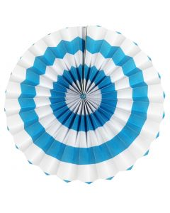 light blue stripes paper fans