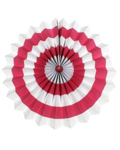 dark pink Stripes Paper Fans