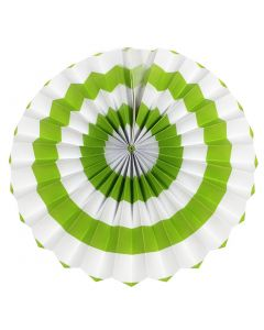 light green stripes paper fans