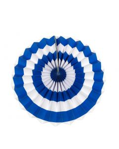 dark blue stripes paper fans