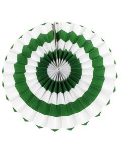 dark green stripes paper fans