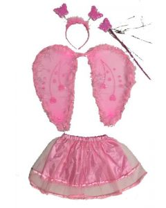 Pink Angel Wings Costume