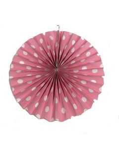 Light Pink Polka Dots paper fans