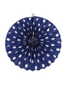 Royal Blue Polka Dots paper fans