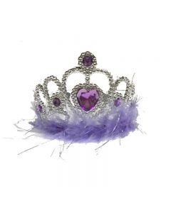 crown with feather purple