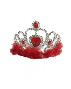 crown with feather red