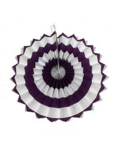purple stripes paper fans