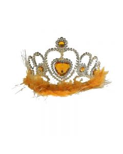 crown with feather orange