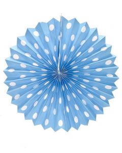 Light Blue Polka Dots paper fans