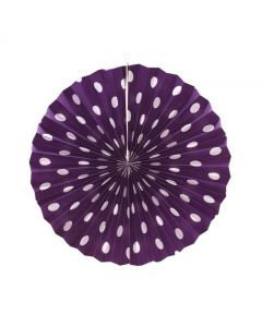 Purple Polka Dots paper fans