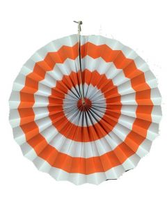 orange stripes paper fans