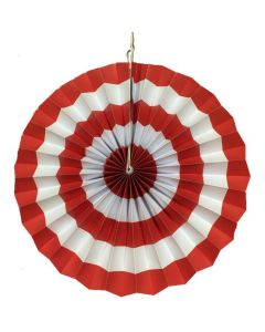 red stripes paper fans