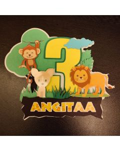 Personalized Jungle Cake Topper
