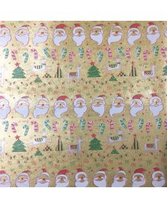 Golden Christmas Wrapping paper (pack of 10)