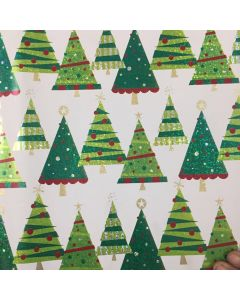Christmas Tree Wrapping paper (pack of 5)