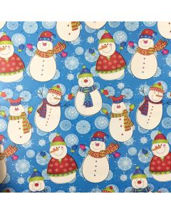 Snowman Wrapping paper (pack of 10)