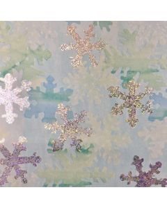 Silver and Blue Snowflakes Wrapping paper (pack of 10)