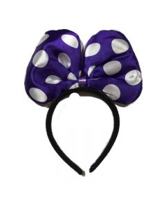 Minnie Mouse Purple Bow Headband