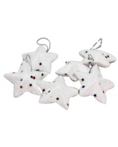 White Stars Hangings (pack of 6)