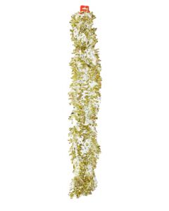 Golden and White Snow Flakes Colored Garland