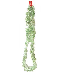 Light Green and White Snow Flakes Colored Garland