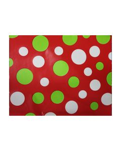 Red with green and white polka dots  Wrapping paper
