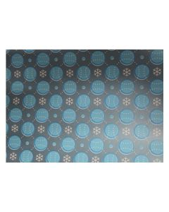 Blue Balls and Snow Flakes Wrapping paper