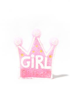 Pink Girl Crown Candle