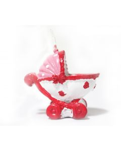Pink Baby Carriage Candle